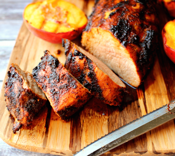 Grilled-Pork-Loin-and-Grilled-Peaches